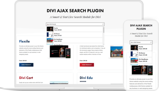Divi Ajax Search Plugin