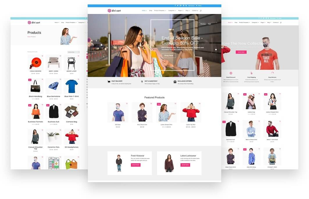 Divi Cart Homepage