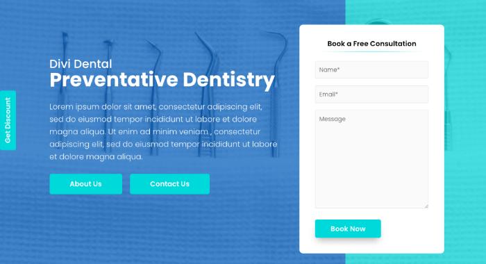 Divi Plus dental starter template