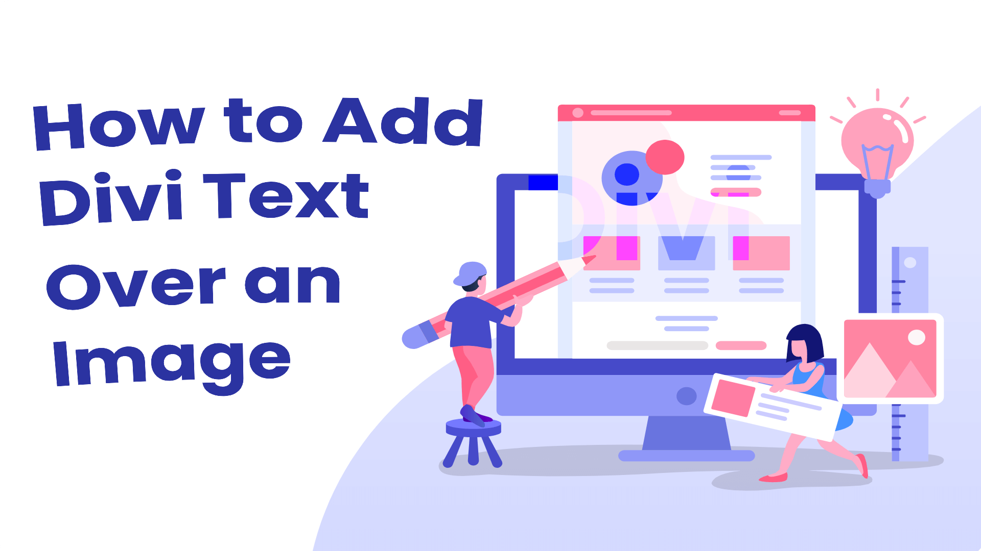 Divi text over an image