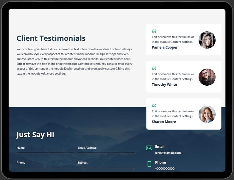 Landing Page Testimonials