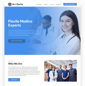 Medical homepage layout