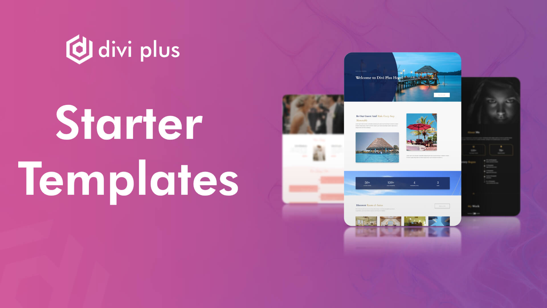 Starter templates available with Divi Plus