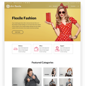 Store homepage layout for Divi
