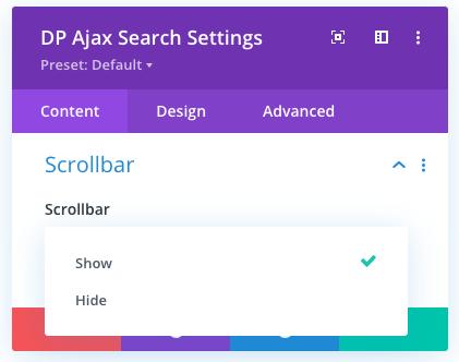 Ajax search results scrollbar