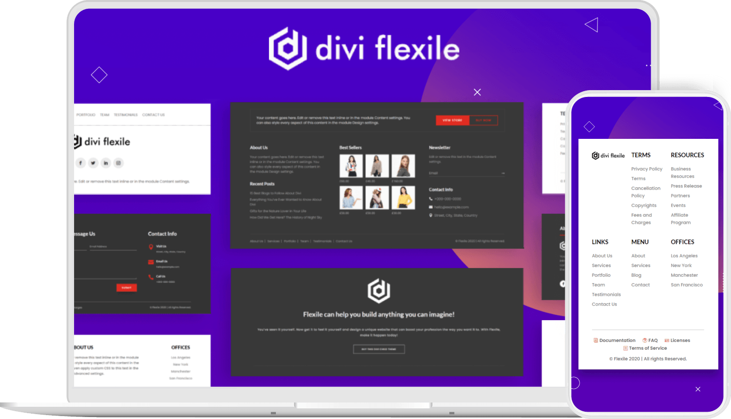 Divi Flexile Footers