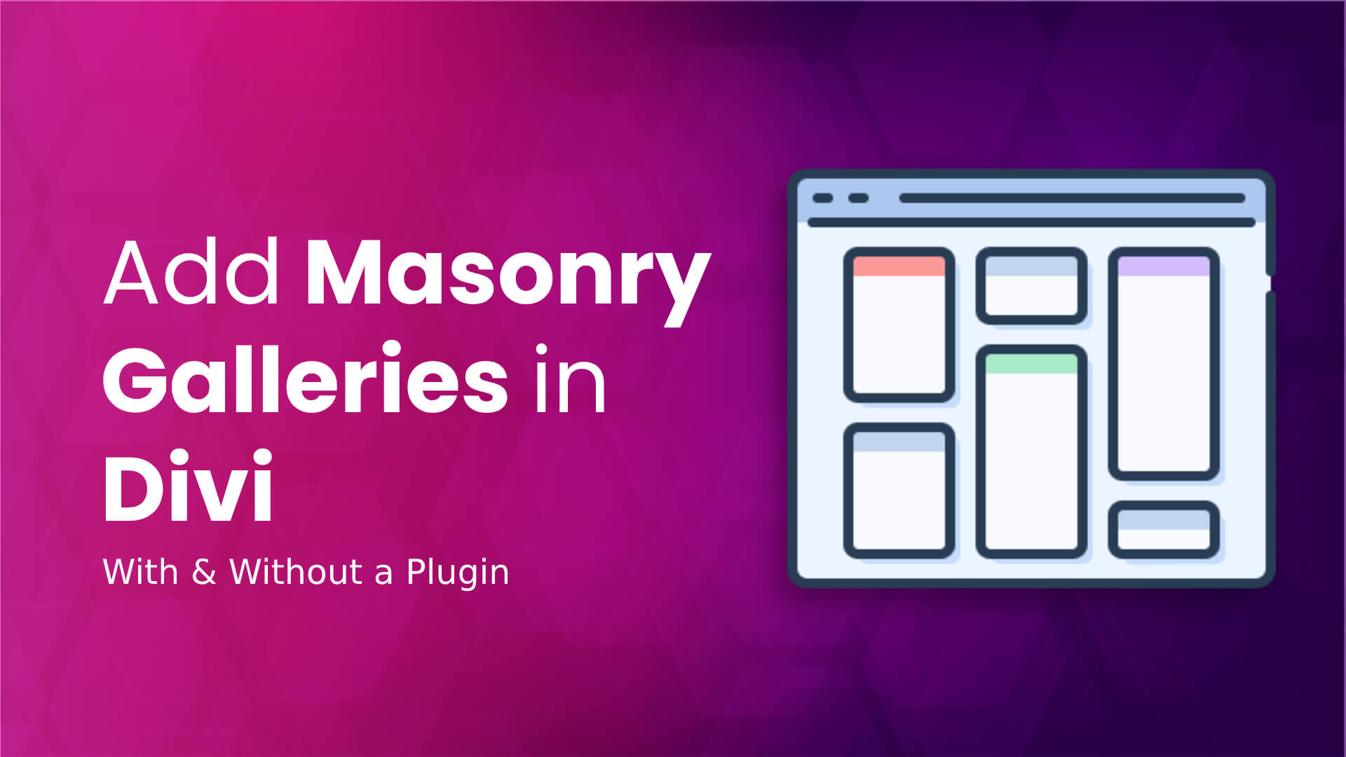 Masonry galleries in the Divi theme