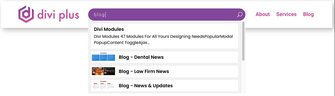 I Love WordPress divi plus live search et im 2