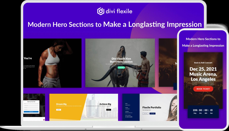 Divi Flexile Hero Sections