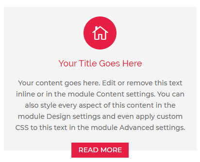 Divi Blurb Layout Example 8