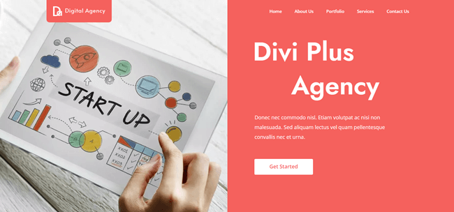 divi free agency child template