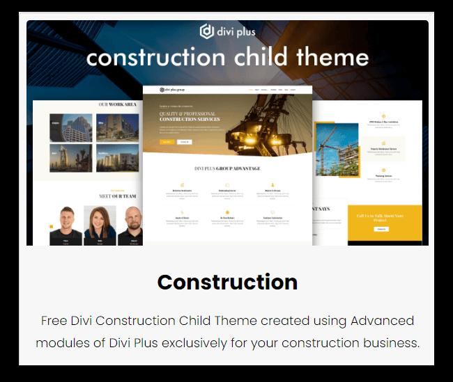 divi construction theme