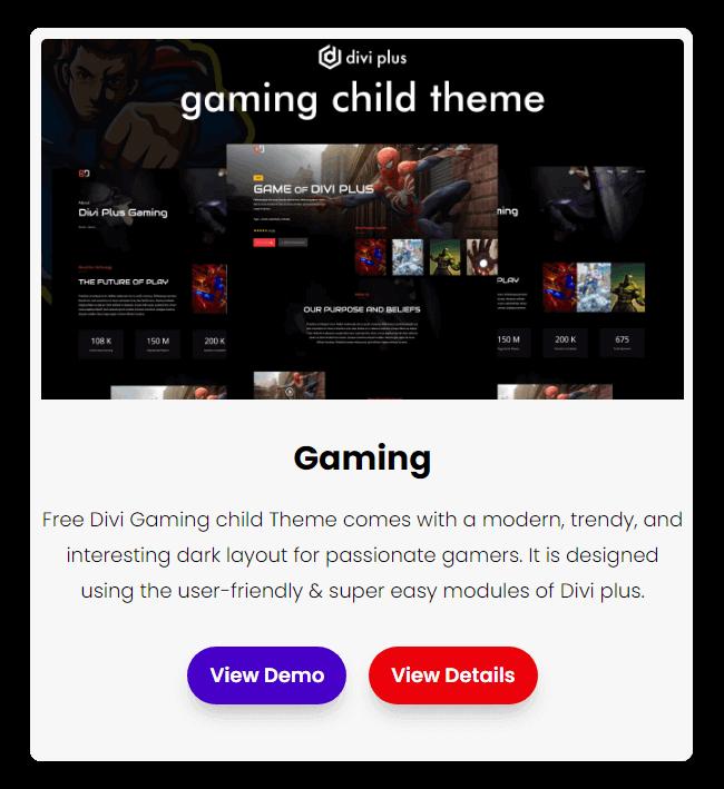 free divi gaming theme