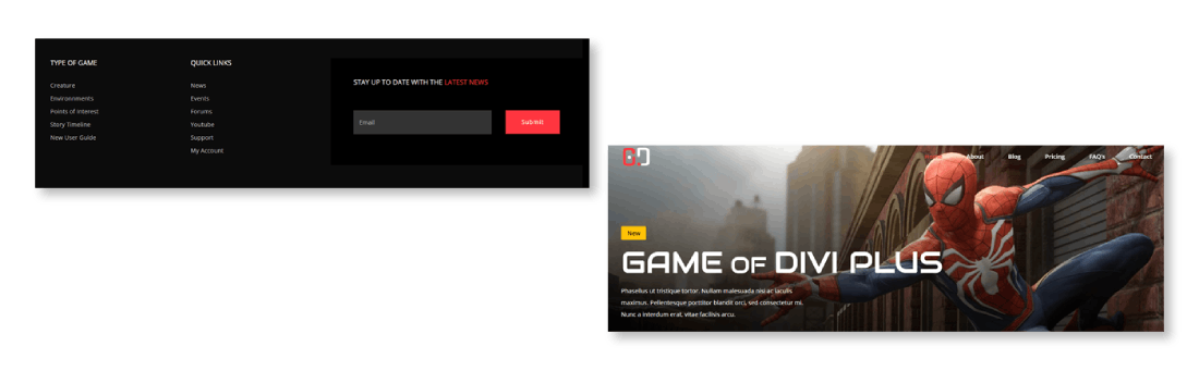 Free esports layout pack for divi