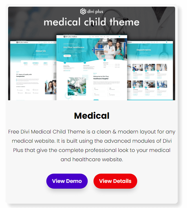 divi medical and health care theme