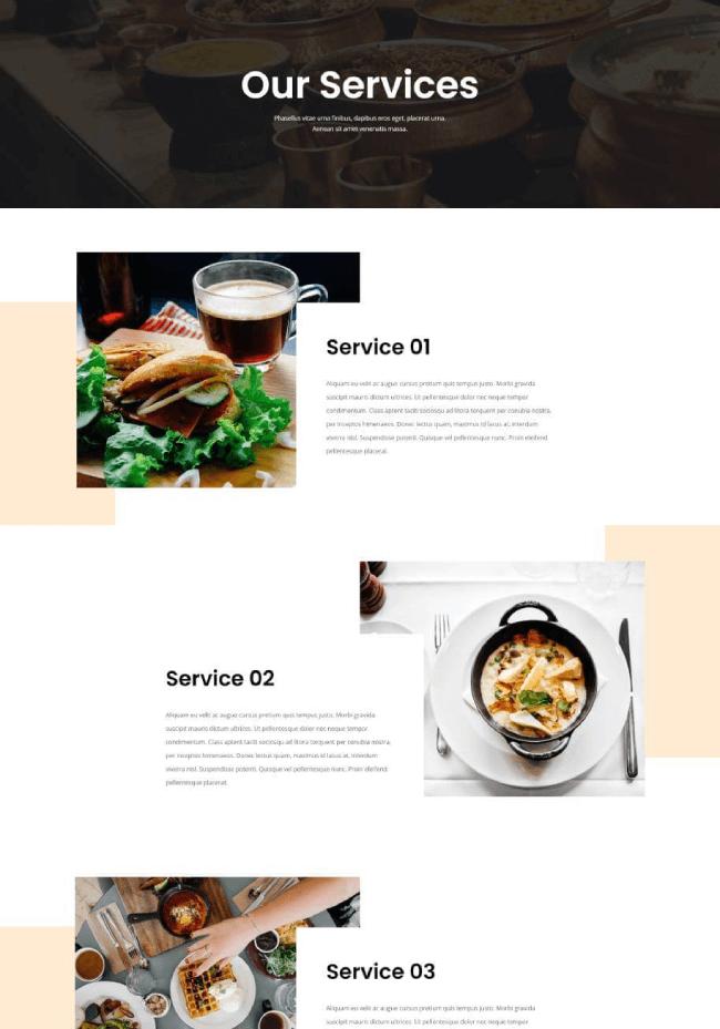 divi restaurant services