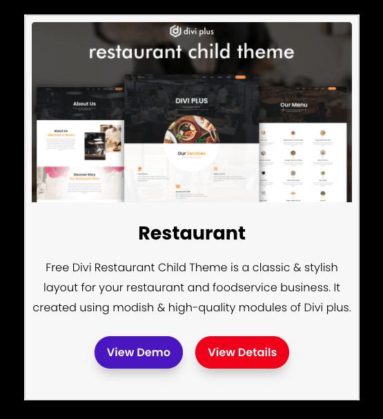 free divi restaurant layout