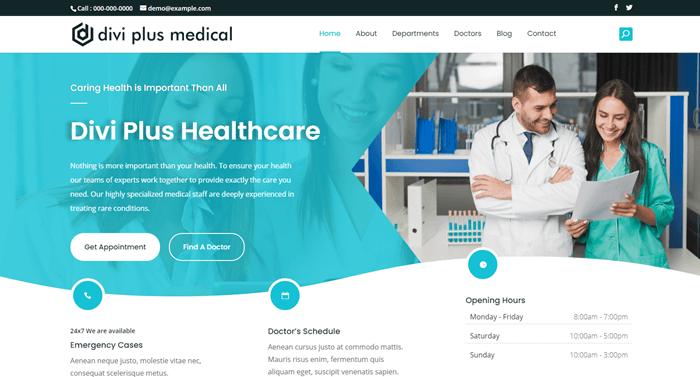 divi medical template