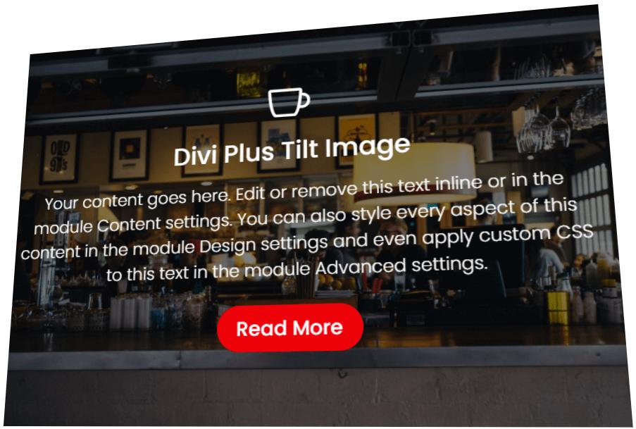 Divi Tilt Image Module