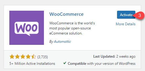 Activating WooCommerce for Divi