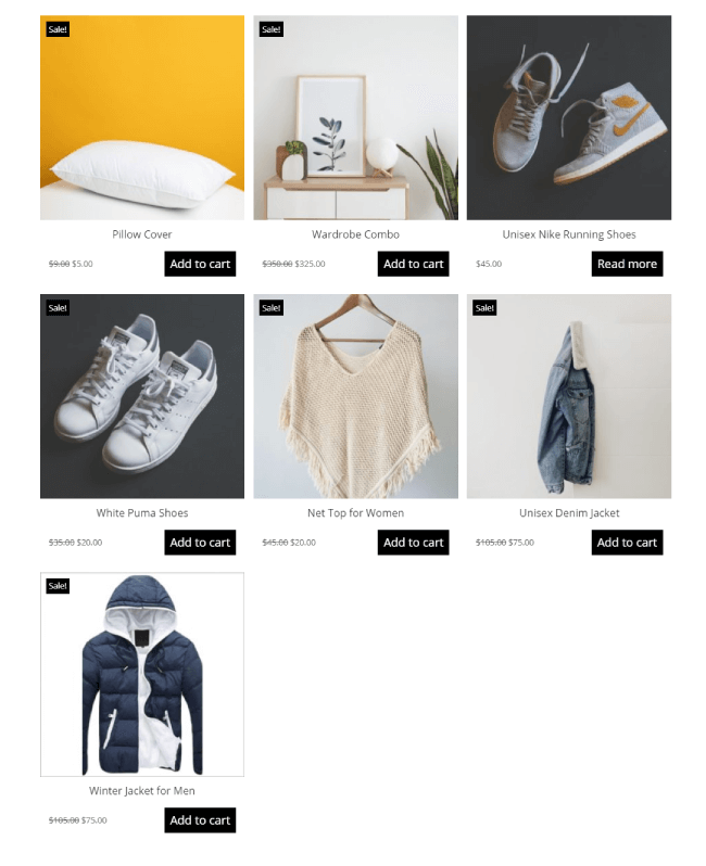 Divi Plus WooCommerce Products layout 2