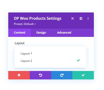 Divi Plus WooCommerce Products layout option