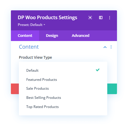 Product Type View option in Divi Plus WooCommerce Products module