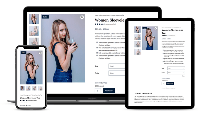 Responsive WooCommerce Layout for Divi