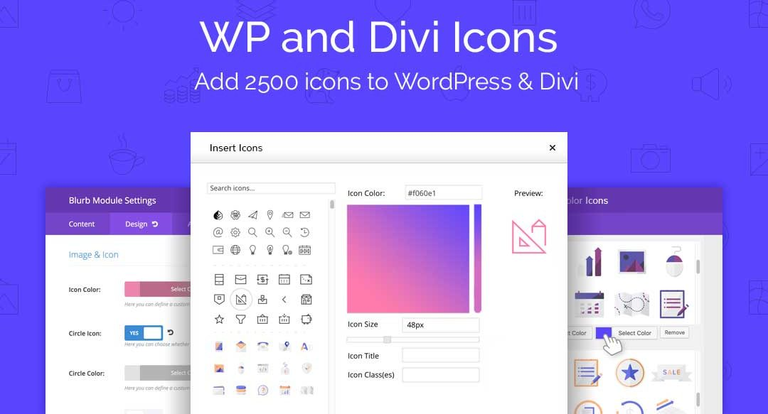 WP and Divi icons plugin