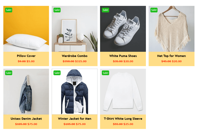 WooCommerce Products with customized sale badge