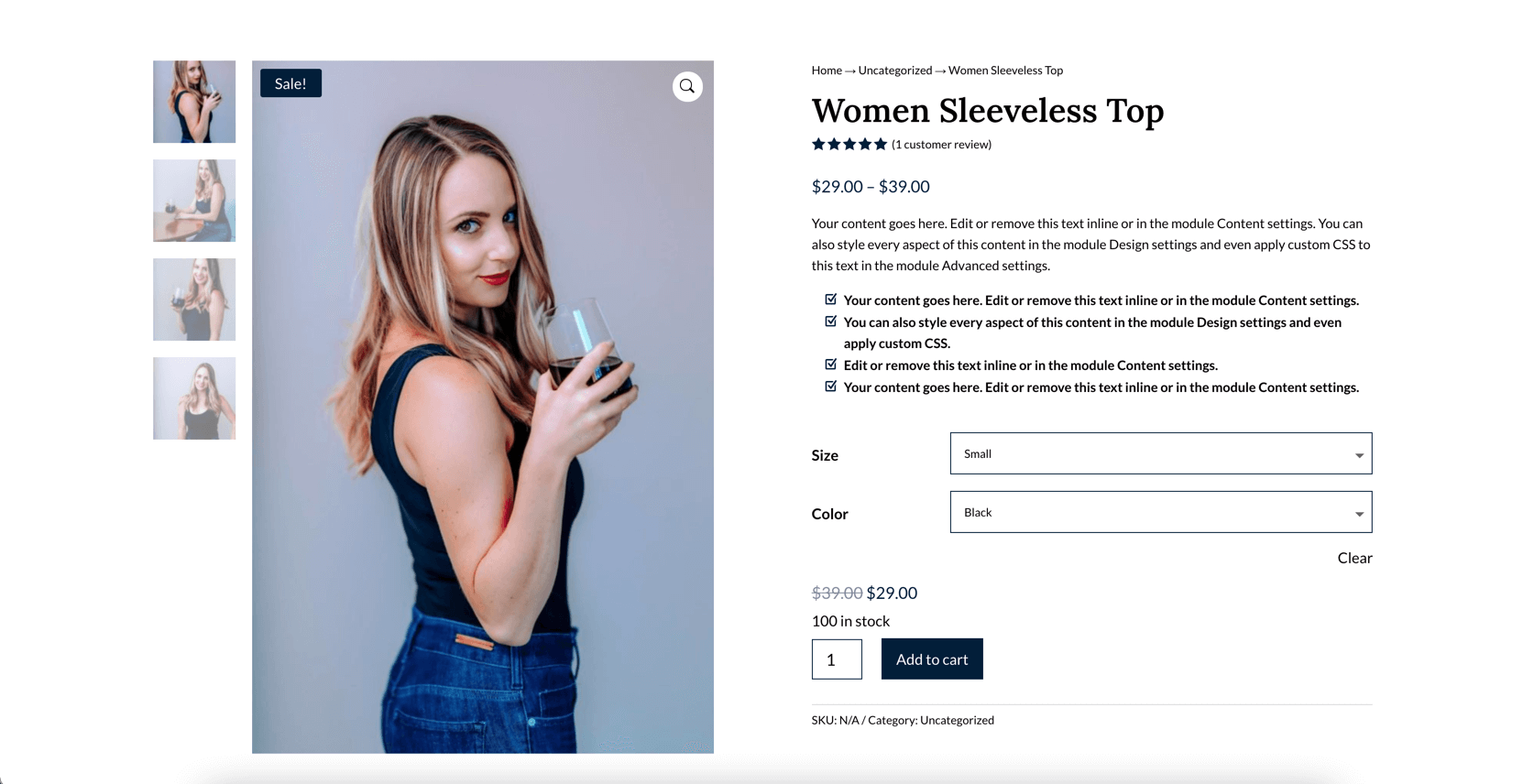 divi ecommerce layout