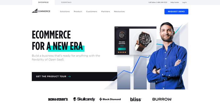 BigCommerce website builder for online stores