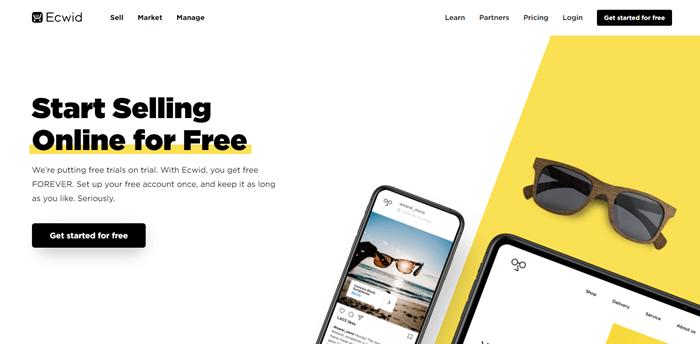 Ecwid free eCommerce store builder