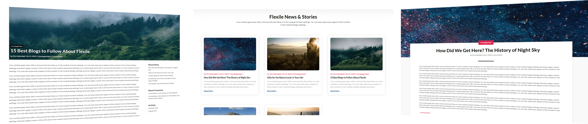 flexile-blog-layouts