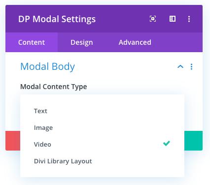 Modal body settings