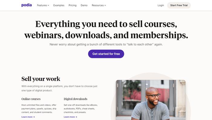 Podia education online store creator