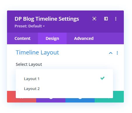 Blog Post Timeline layouts option