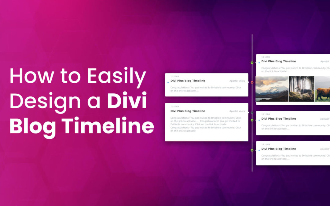 How to Easily Design a Divi Blog Timeline Layout