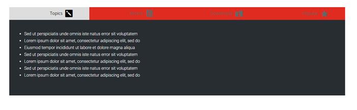 Divi horizontal tabs example 2
