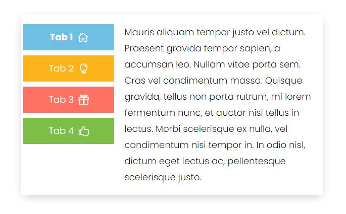 Divi vertical tabs with item having different design