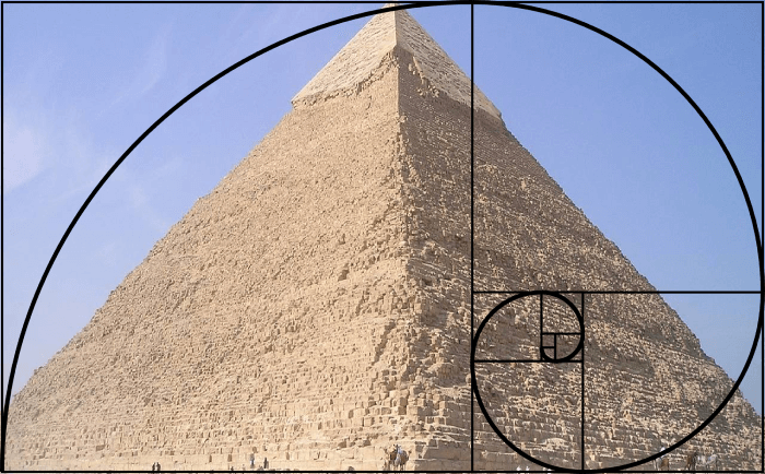 Pyramid of Giza and Golden Ratio