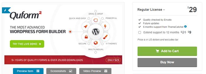 QuForm WordPress Form Builder