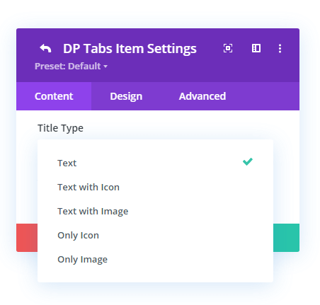 Tabs title type choices