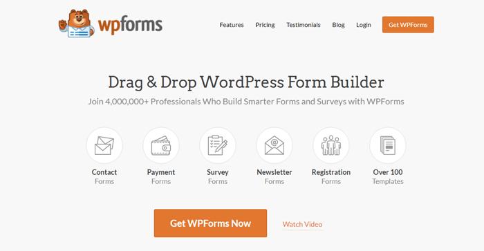WPForms WordPress form builder