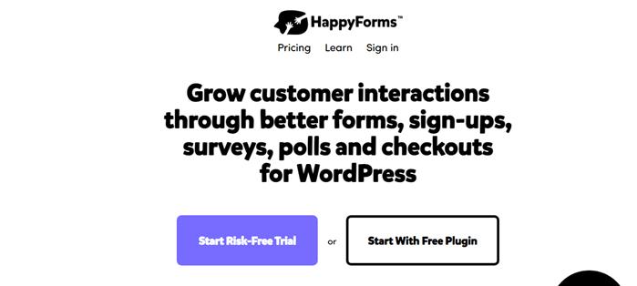 WordPress form builders - happyforms