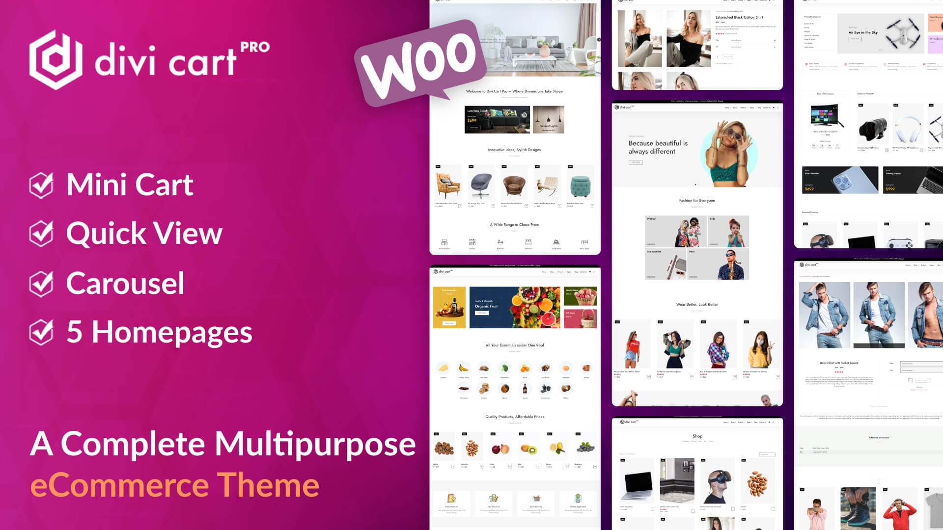 Build state of the art Divi shops with the all-new premium Divi Cart Pro