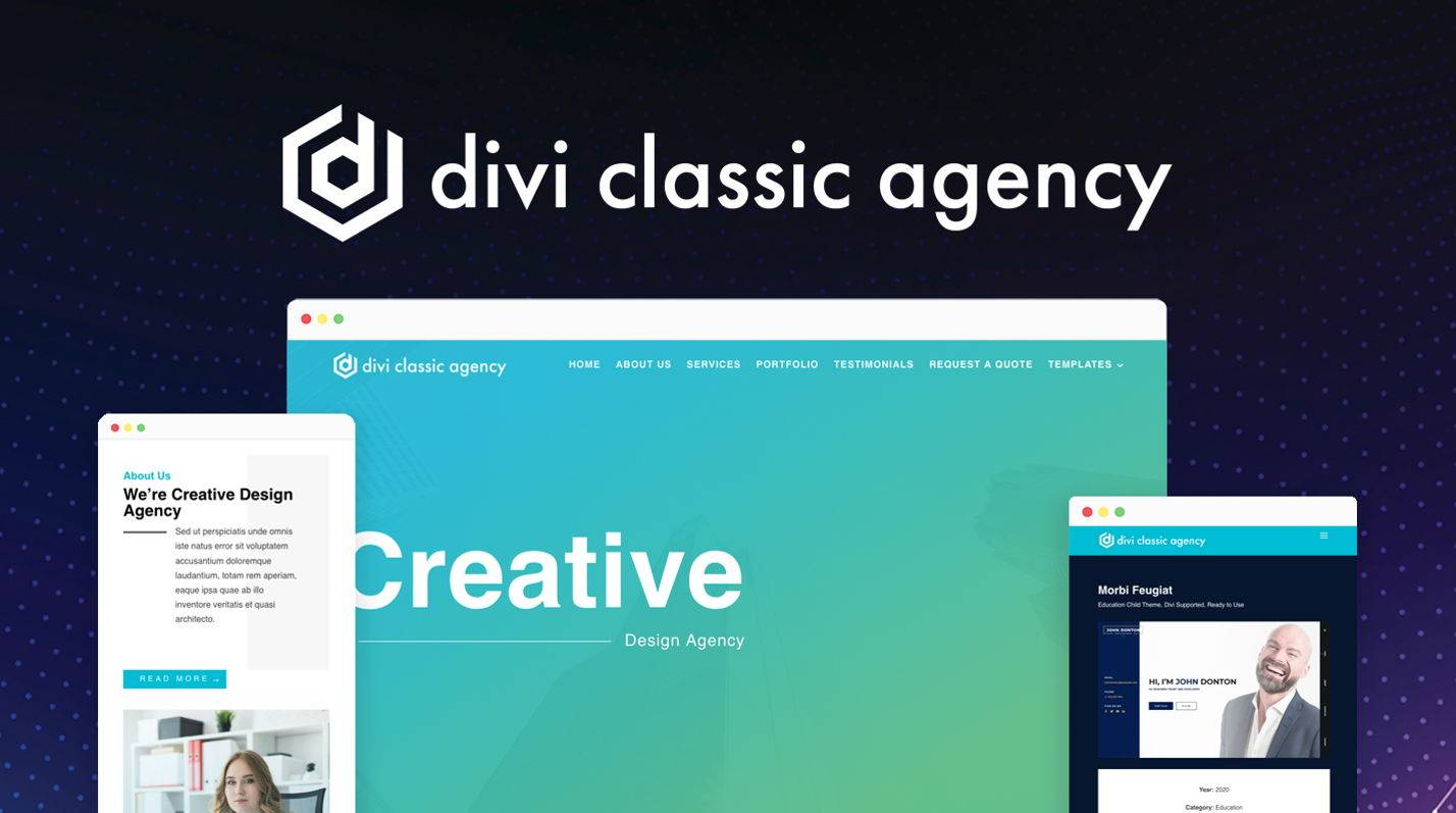 Divi Classic Agency child theme at the Divi Marketplace