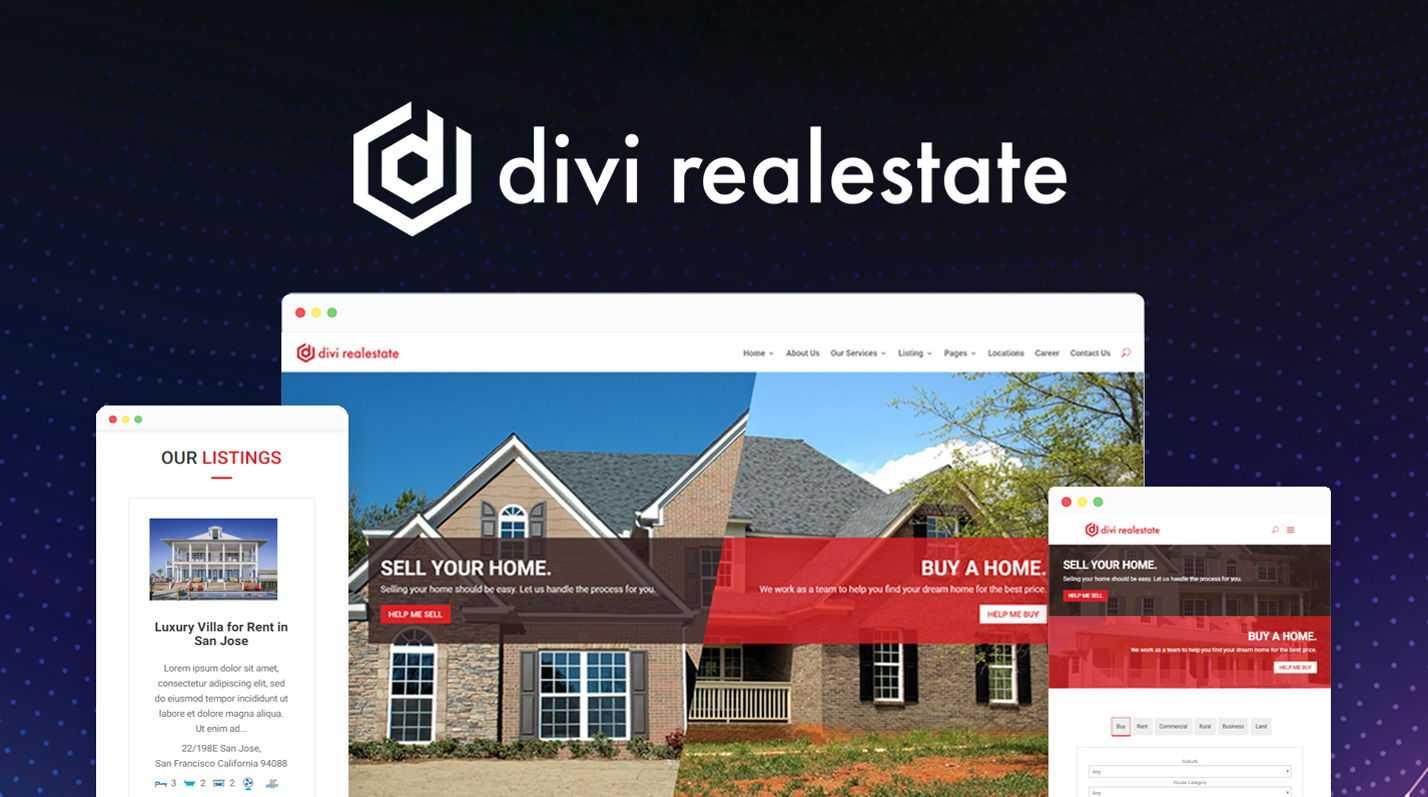 Divi Real Estate for Divi Marketplace