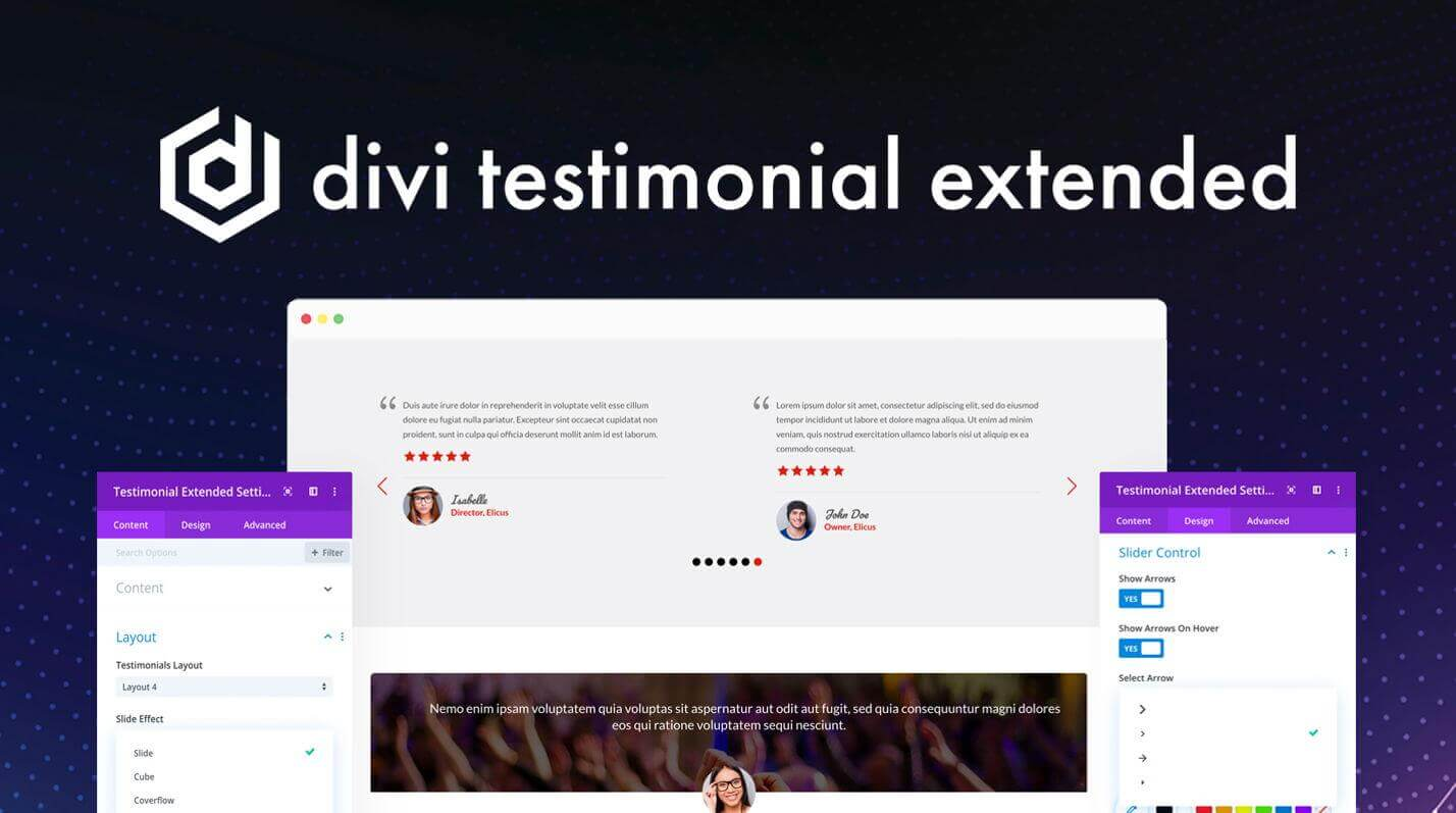 Divi Testimonial Extended at the Official Elegant Divi Marketplace