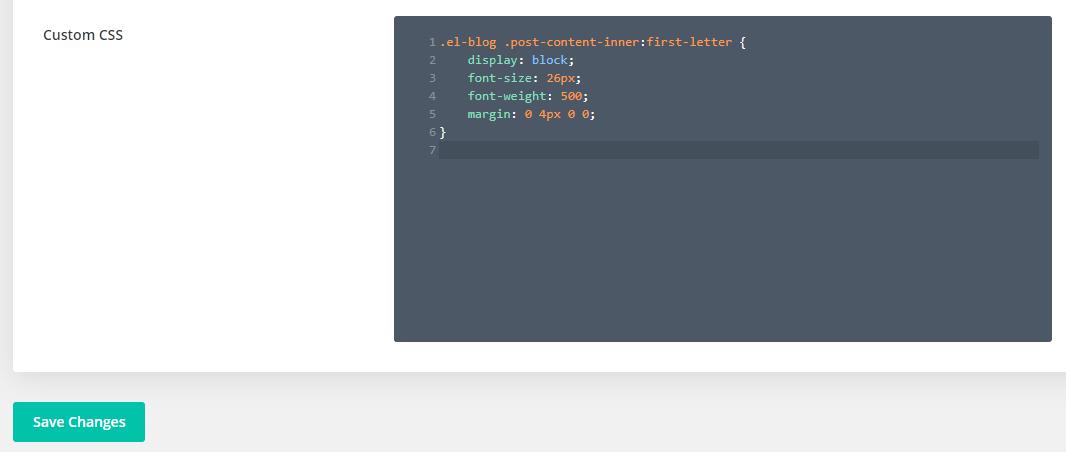 Divi drop cap custom css for native blog module